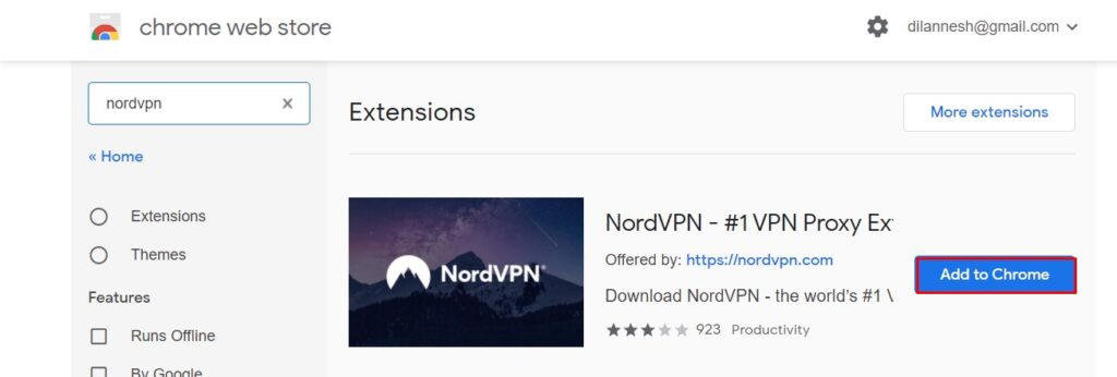 NordVPN Chrome Extension