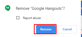 How to delete hangouts account