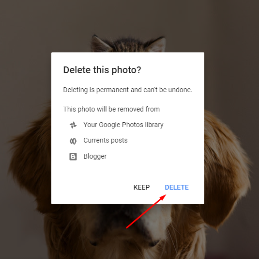 delete photos from hangouts