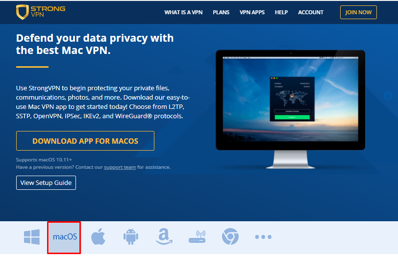 strong vpn for pc